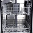 Stock Photo: Empty dishwasher