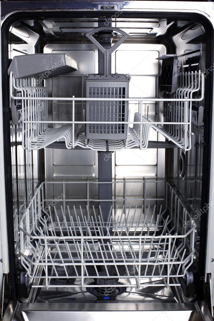Empty Dishwasher Stock Photo Image Of Housework Wheels