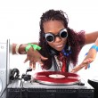 Cool afro american DJ in action — Stock Photo #2010444