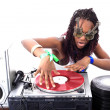 cool afro american dj in aktion — Stockfoto #2010516