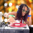 Cool afro american DJ in action — Stock Photo #2011014