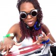 Cool afro american DJ in action — Stock Photo #2011180