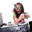Cool afro american DJ in action — Stock Photo #2011276