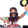 Cool afro american DJ in action — Stock Photo #2011533