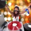 Cool afro american DJ in action — Stock Photo #2011827