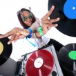 cool afro american dj in aktion — Stockfoto #2011913