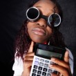 Afro-american accountant manager — Stock Photo