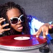 Cool afro american DJ in action — Stock Photo #2015179