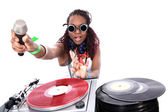 Cool afro american DJ — Stock Photo