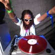 Cool afro american DJ in action — Stock Photo #2024360