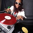 Cool afro american DJ in action — Stock Photo #2024899