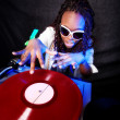 Cool afro american DJ in action — Stock Photo #2025001