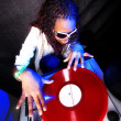 Cool afro american DJ in action — Stock Photo #2025082