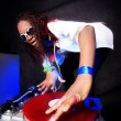 Cool afro american DJ in action — Stock Photo #2025136