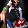 Cool afro american DJ in action — Stock Photo #2025263