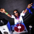 Cool afro american DJ in action — Stock Photo #2025324