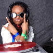Cool afro american DJ in action — Stock Photo #2033276
