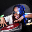 cool afro american dj in aktion — Stockfoto #2033544