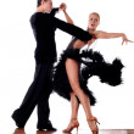 Dancers in ballroom — Stock Photo