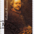 Stamp shows artist Rembrandt — Stock Photo