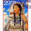Stamp with portrait Sacagawea — Stock Photo #2098483
