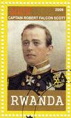 Stamp shows Captain Robert Falcon Scott — Stock Photo