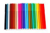 24 χρωμάτων στυλό που απομονώνονται σε λευκό — Φωτογραφία Αρχείου