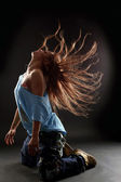 Cool woman modern dancer — Stock Photo