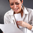 Bad news - depression woman with tears — Stock Photo #2153446