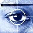 Eye scan for security or identification - Stock Photo
