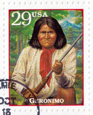 Stamp show Geronimo — Stock Photo