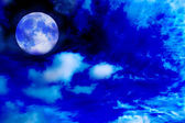 Moon night with beautiful sky — Stock Photo