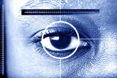 Eye scan for security or identification — Stock Photo