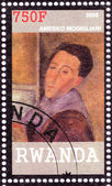 Stamp shows Amedeo Modigliani — Stock Photo