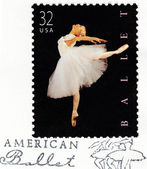 Stamp printed in USA shows ballet — Stock Photo