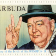 Постер, плакат: Vintage stamp with Winston Churchill