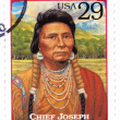 Stamp show chief Chief Joseph — 图库照片