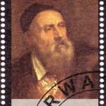 Stamp shows Tiziano Vecelli — Stock Photo