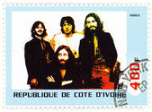 Stamp shows the Beatles — Stock Photo