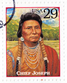 Stamp show chief Chief Joseph — Stock Photo