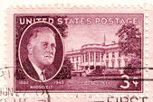 Stamp shows Franklin Delano Roosevelt — Stock Photo