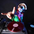 Cool kid DJ in action — 图库照片