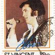 Royalty-Free Stock Photo: Stamp with Elvis Presley