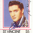 Постер, плакат: Stamp with famous singer Elvis Presley