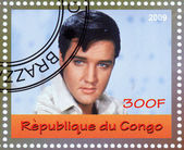 Elvis Presley stamp — Stock Photo