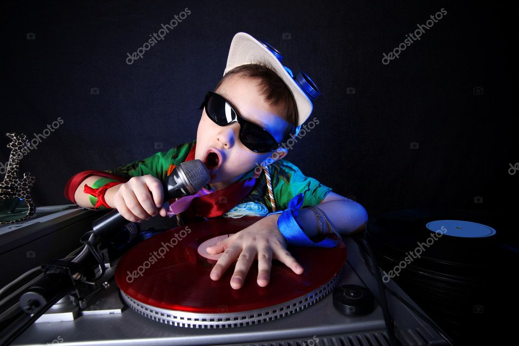 Cool kid DJ in action — Stock Photo #2213313