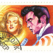 Stamp Marilyn Monroe and Elvis Presley — Stock Photo