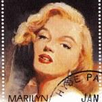 Постер, плакат: Stamp with actress Marilyn Monroe