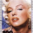 Stamp with Marilyn Monroe — Stock Photo