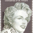 Vintage stamp with Marilyn Monroe — Stock Photo